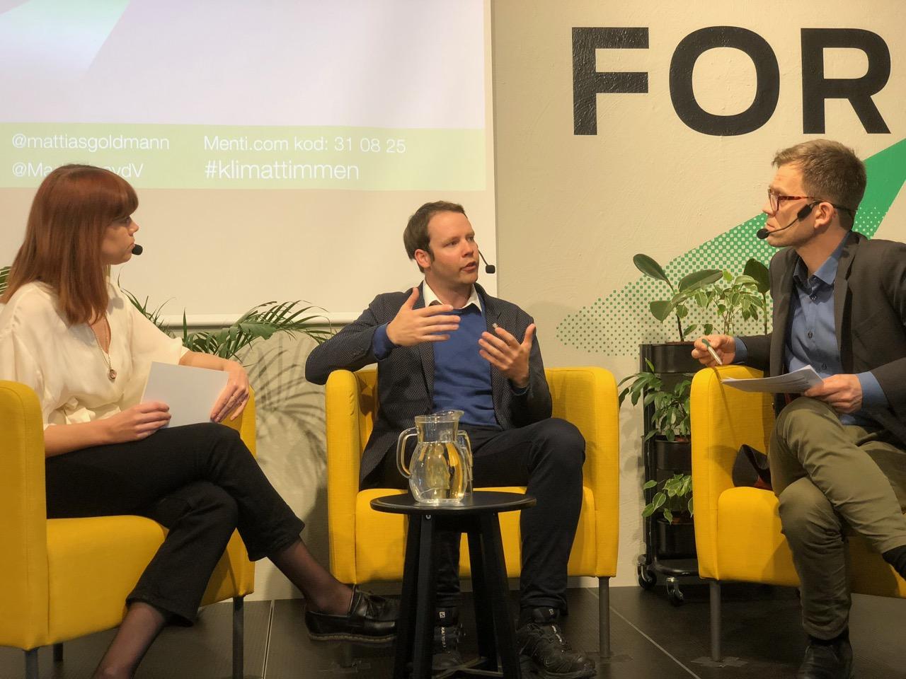 FORES KLIMATTIMMEN – Rickard Nordin energi- och klimatpolitisk talesperson för Centerpartiet frågas ut