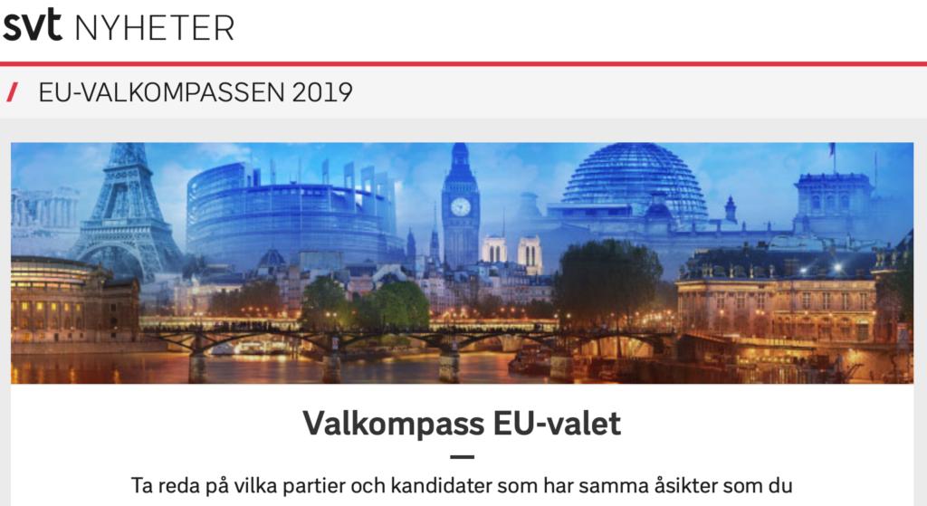 Läs mer om artikeln SVTs Valkompass för EU-valet